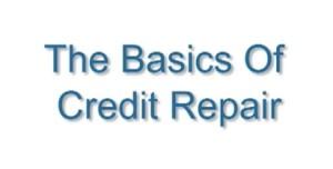 credit repair basics